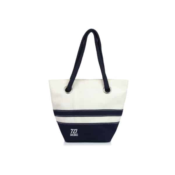 "Handtasche ""Legende"" by 727 Sailbags / Segel / Boden blau gestreift"