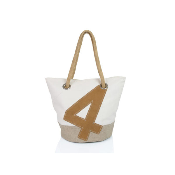 "Handtasche ""Sandy"" by 727 Sailbags / Segel / Boden Leinen / Motiv 4 Leder"