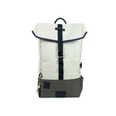 "Rucksack ""Dinghy"" by 727 Sailbags / Segel weiß / Boden grau"